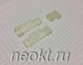 Пластиковая изоляция на клемму 6,3FR белая угловая
