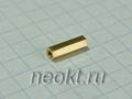 PCHSS2-10 mm М2, латунь, шестигр.стойка