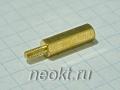 PCHSN2,5-15 mm М2,5, латунь, шестигр.стойка