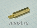 PCHSN2,5-20 mm М2,5, латунь, шестигр.стойка