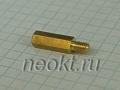 PCHSN4-15 mm М4, латунь, шестигр.стойка