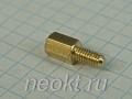 PCHSN4-08 mm М4, латунь, шестигр.стойка
