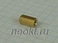 PCHSS4-12 mm М4, латунь, шестигр.стойка