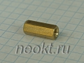 PCHSS4-15 mm М4, латунь, шестигр.стойка