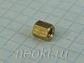 PCHSS4-06 mm М4, латунь, шестигр.стойка