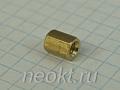 PCHSS4-08 mm М4, латунь, шестигр.стойка